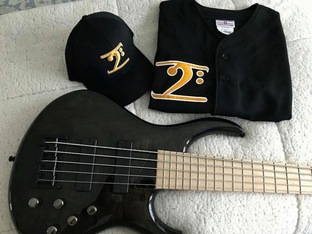 ICONIC BLACK JERSEY - Gold with White Trim - Lathon Bass Wear
