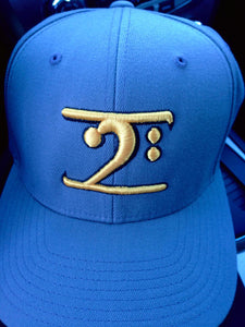 COL. BLUE LOGO CAP - GOLD LOGO NAVY TRIM - Lathon Bass Wear