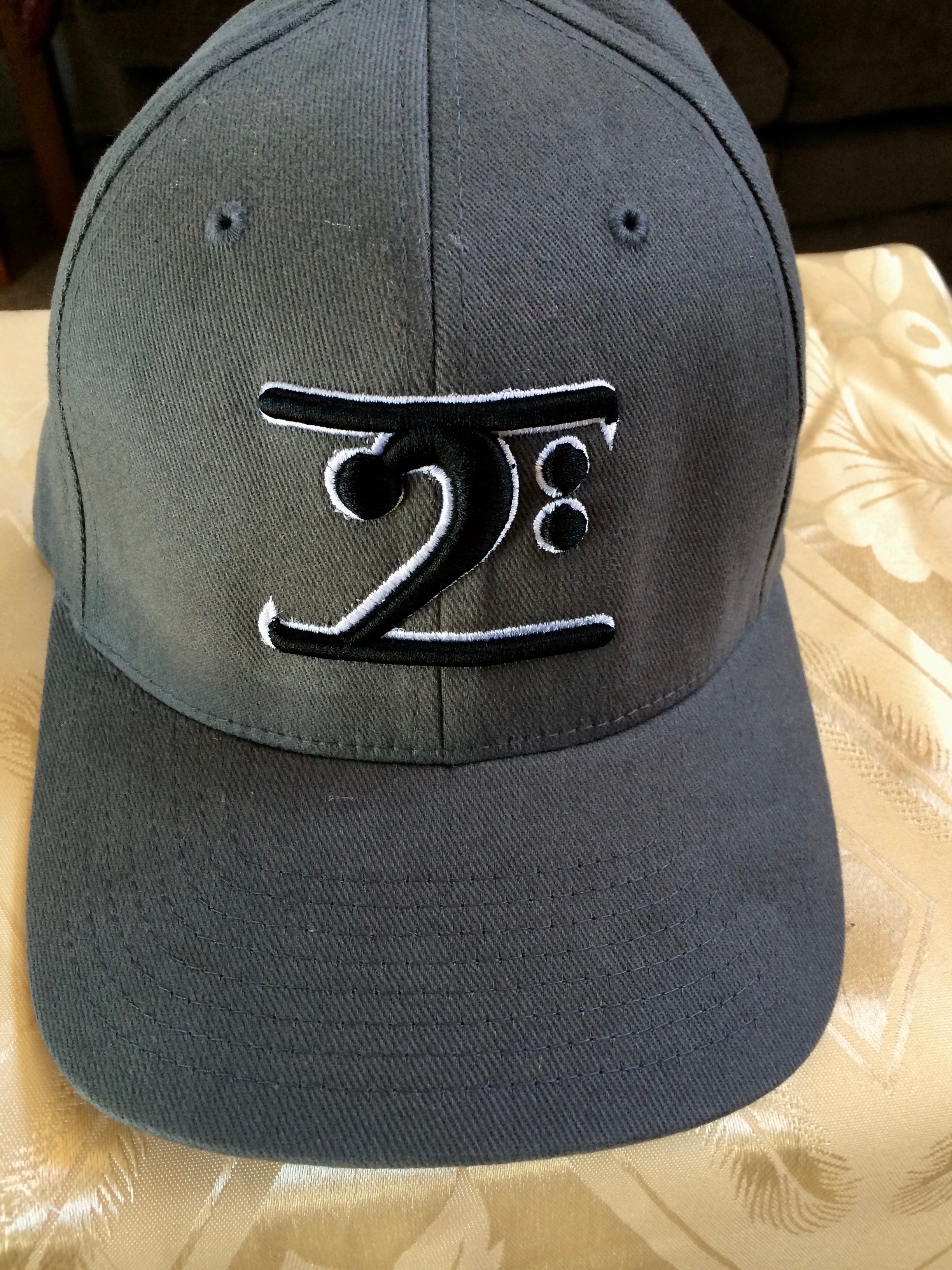 DARK GREY LOGO CAP - BLACK LOGO WHITE TRIM - Lathon Bass Wear