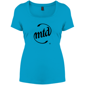MTD BLACK LOGO Women's Perfect Scoop Neck Tee