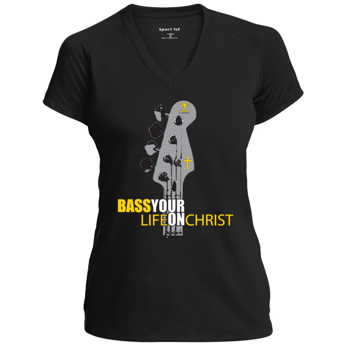 BASS YOUR LIFE ON CHRIST Ladies' Performance T-Shirt - Lathon Bass Wear