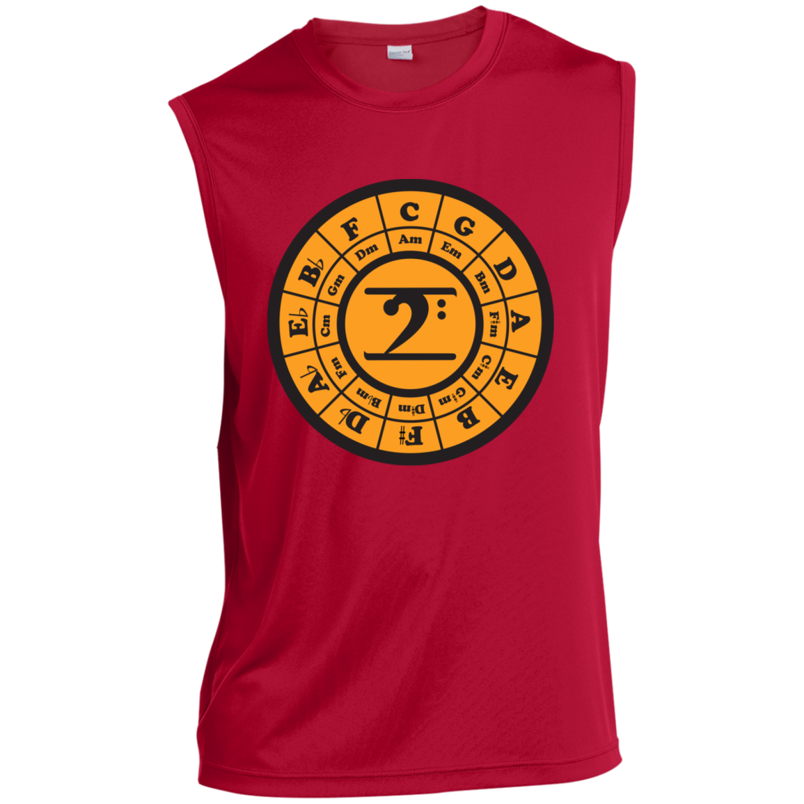 CIRCLE OF 5TH MUSCLE Sleeveless Performance T-Shirt - Lathon Bass Wear