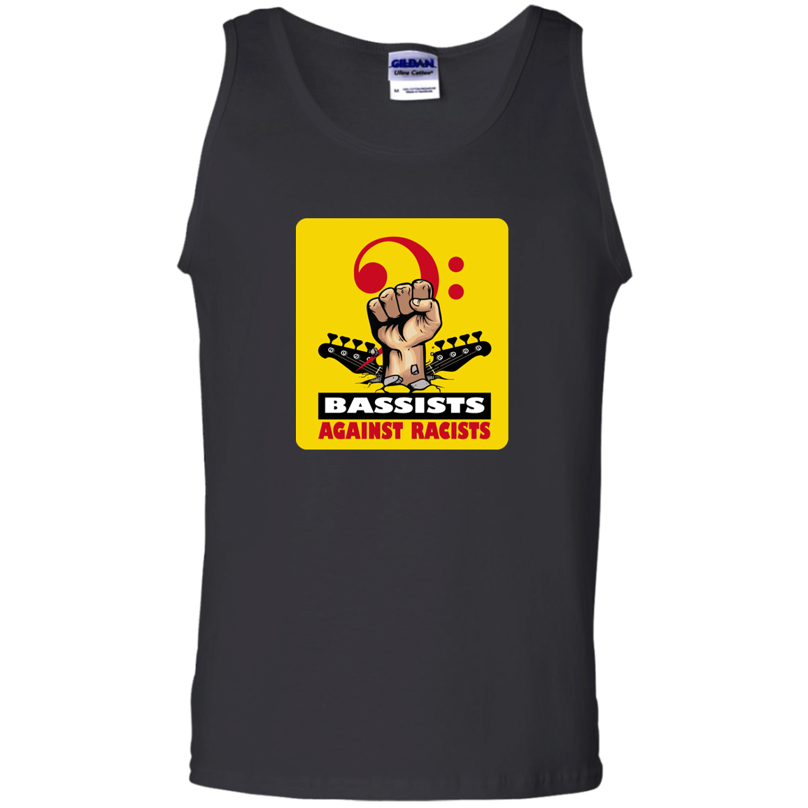 BASSIST AGAINST RACISTS Tank Top