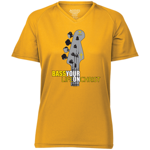BASS YOUR LIFE ON CHRIST Ladies' Raglan Sleeve Wicking T-Shirt - Lathon Bass Wear