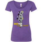 BASS YOUR LIFE ON CHRIST Ladies' Triblend Scoop - Lathon Bass Wear