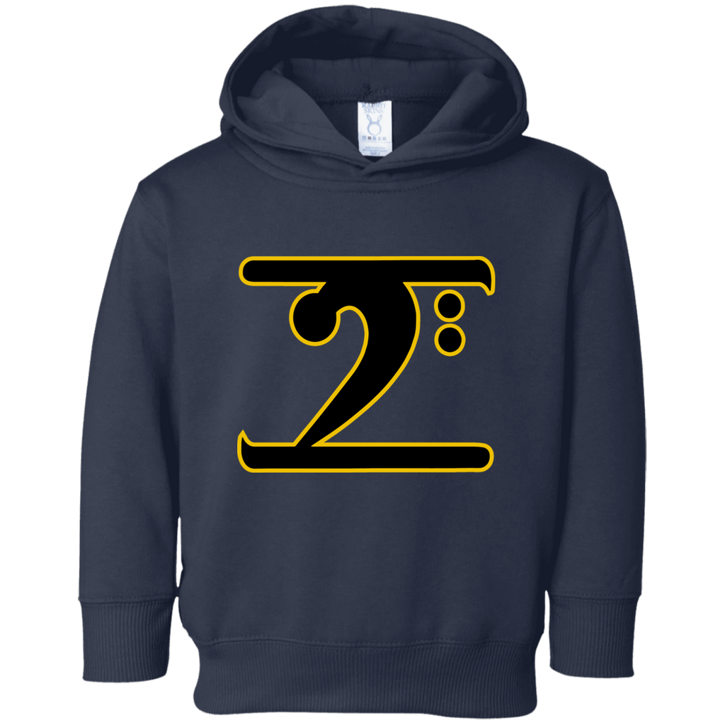 ICONIC LOGO - BLACK/GOLD Toddler Fleece Hoodie