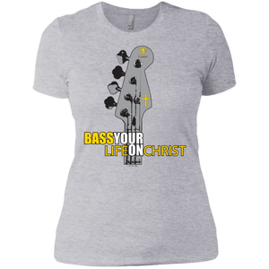 BASS YOUR LIFE ON CHRIST Ladies' Boyfriend T-Shirt - Lathon Bass Wear