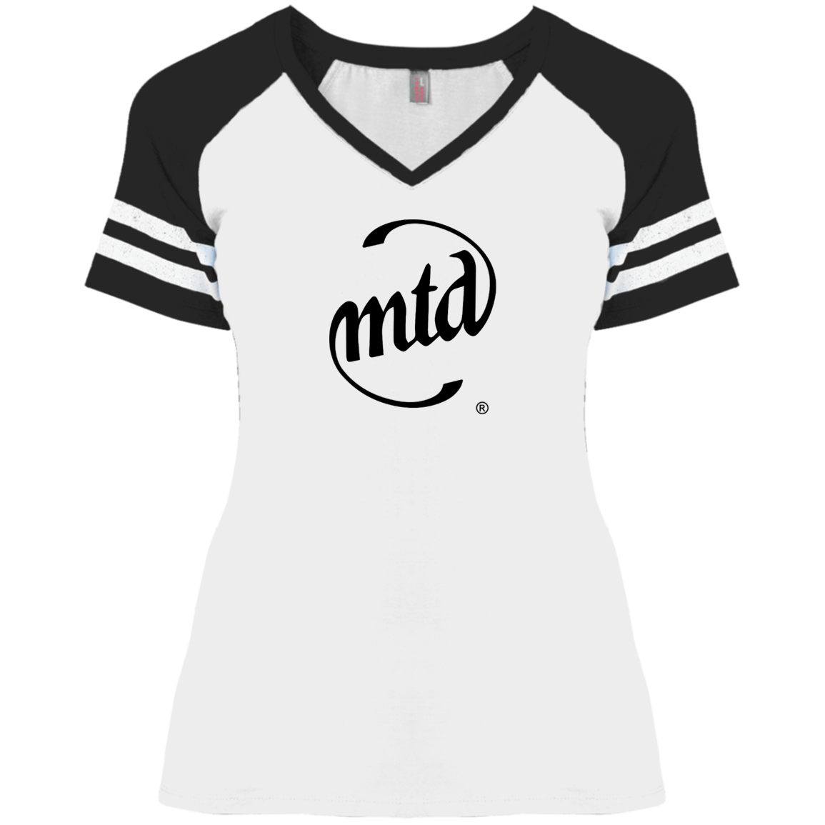 MTD BLACK LOGO Ladies' Game V-Neck T-Shirt