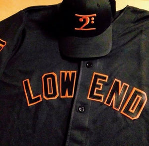 LOW END - BLACK/ORANGE JERSEY - Lathon Bass Wear