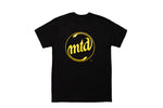 MTD BLACK - GOLD CIRCLE LOGO Short Sleeve T-Shirt