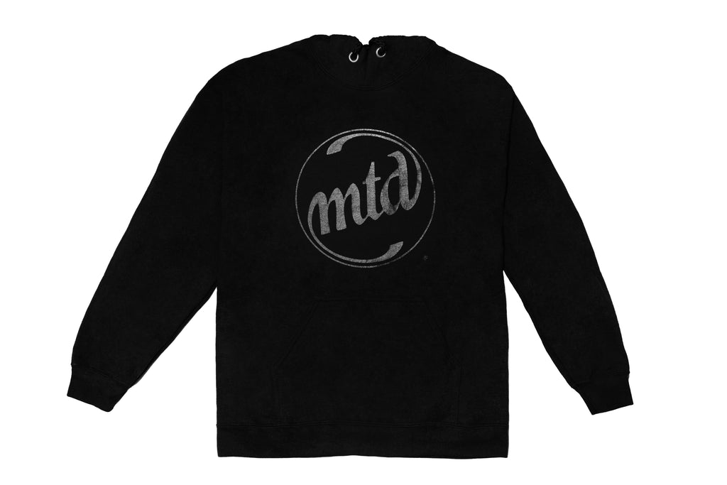 MTD BLACK ON BLACK LOGO HOODY