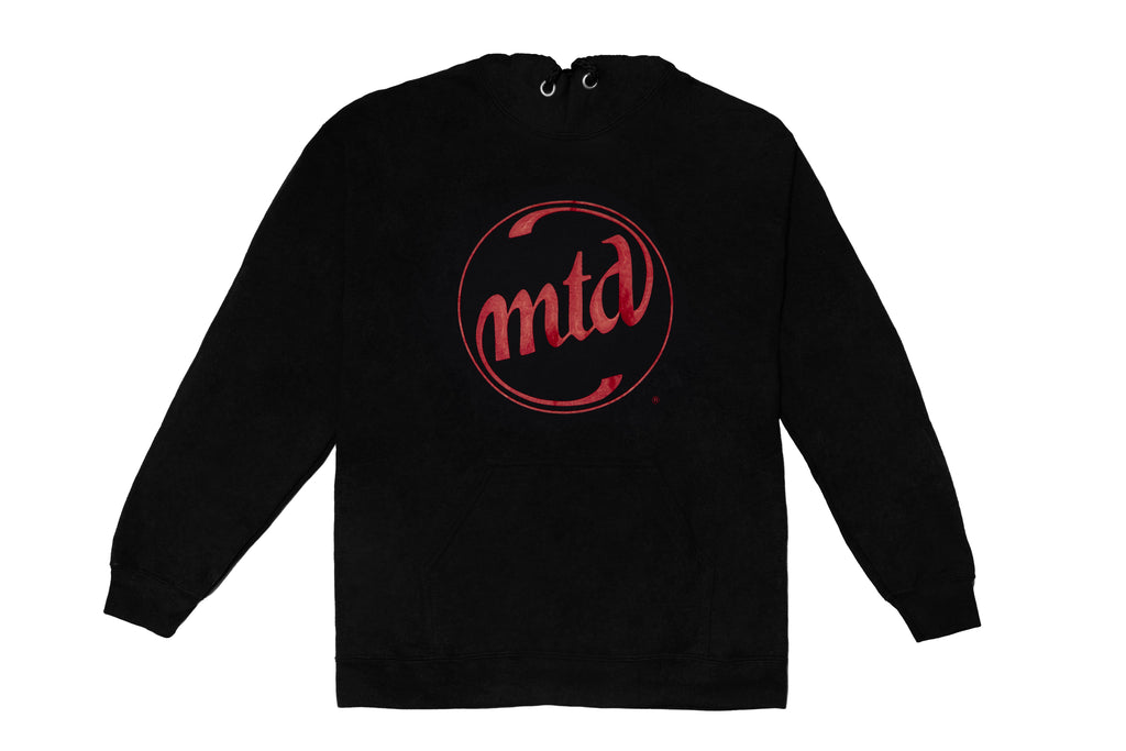 MTD BLACK - RED CIRCLE LOGO Unisex Hoodie