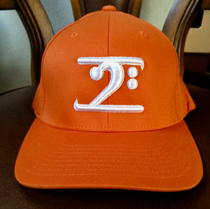 POPE'S ORANGE FUNK LOGO CAP - WHITE LOGO