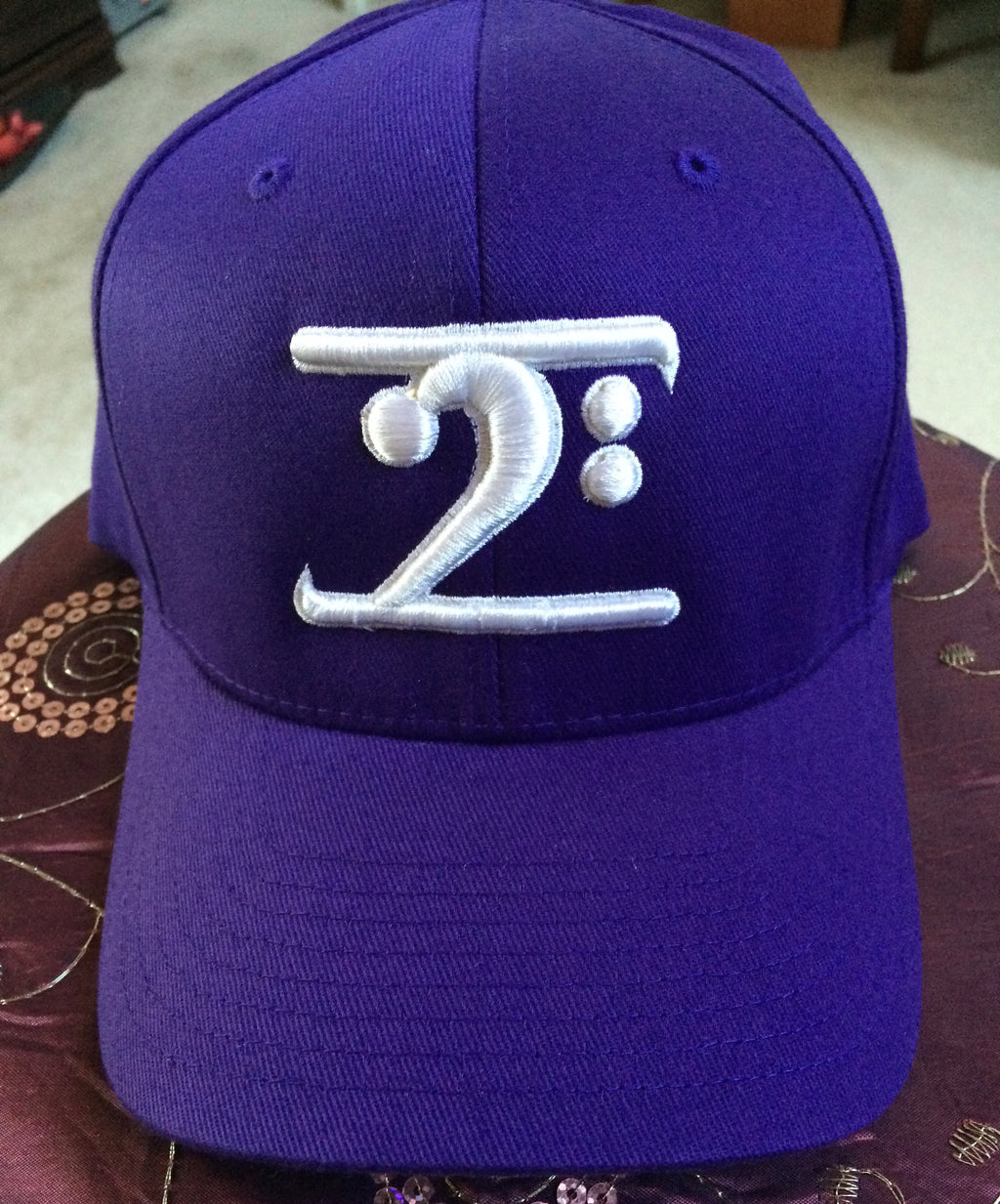 PURPLE LOGO CAP - WHITE LOGO