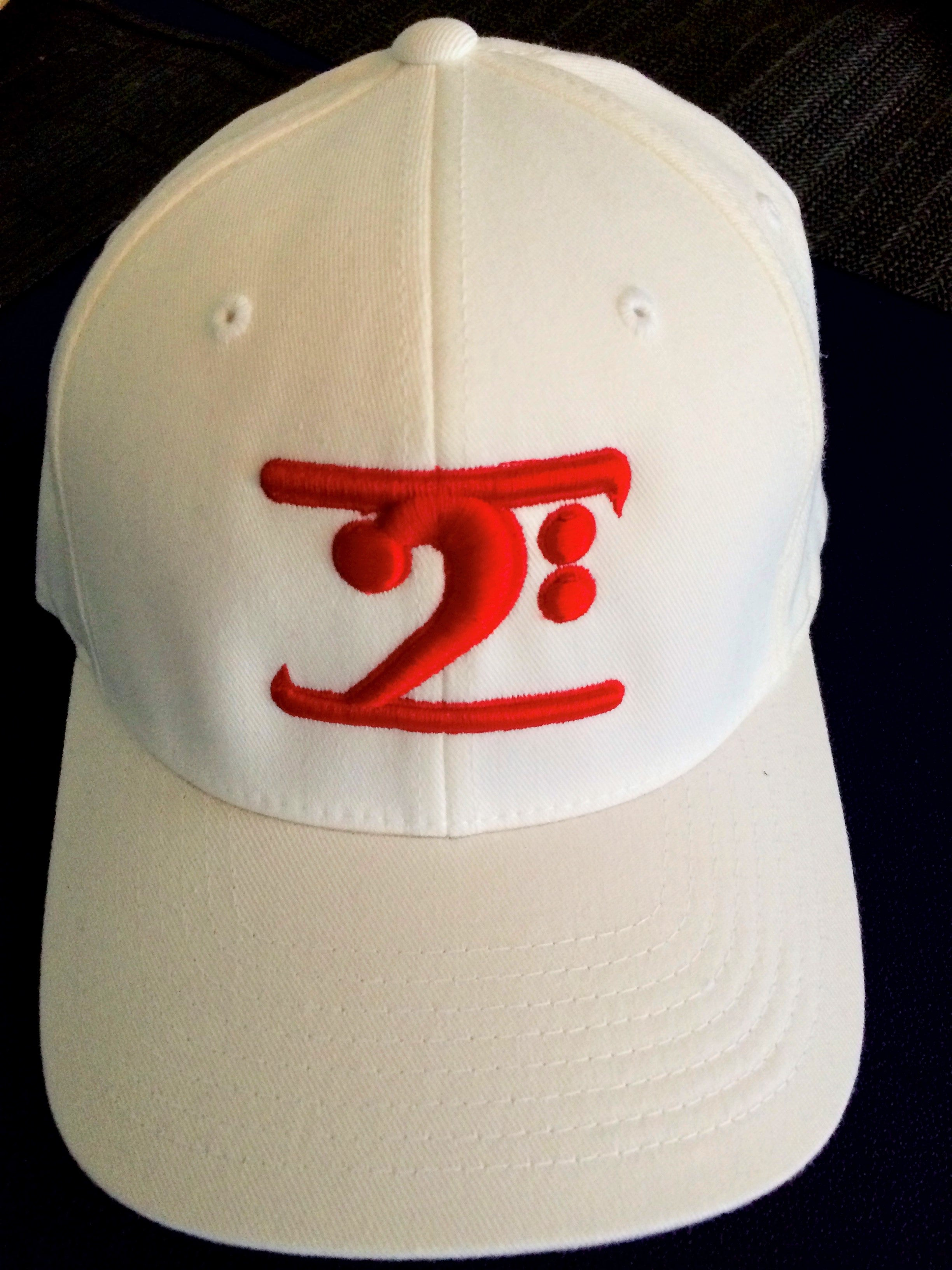 WHITE LOGO CAP - RED LOGO - Lathon Bass Wear