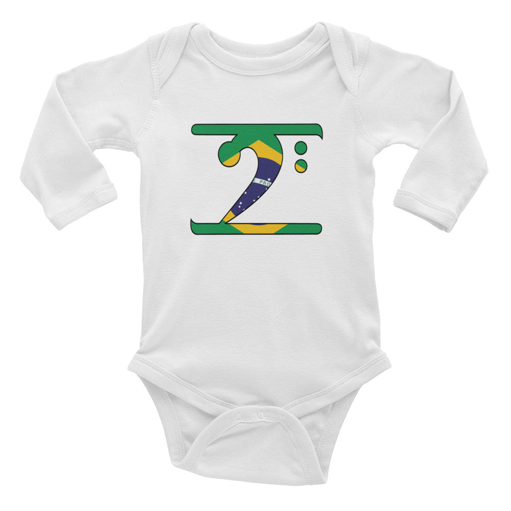 BRAZIL LBW Infant Long Sleeve Bodysuit - Lathon Bass Wear