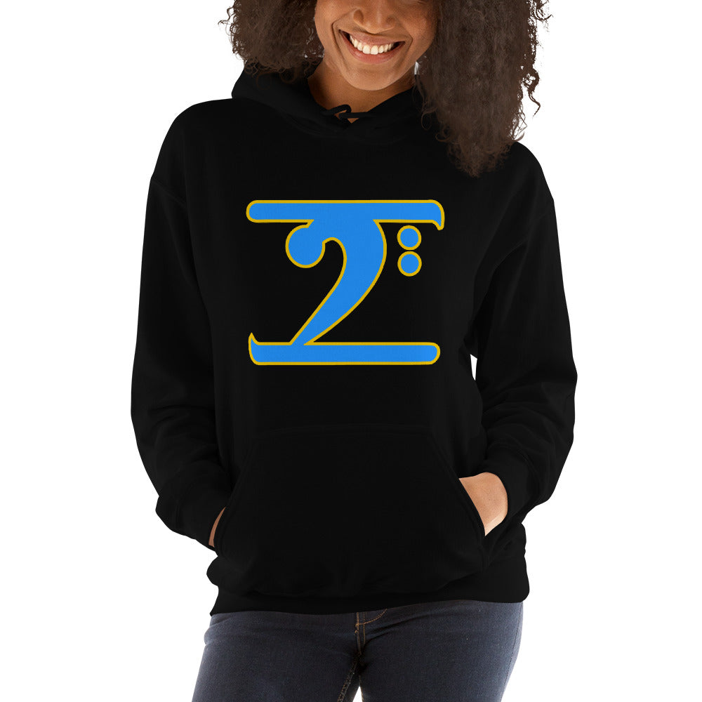 ICONIC LOGO - COL. BLUE/GOLD Hooded