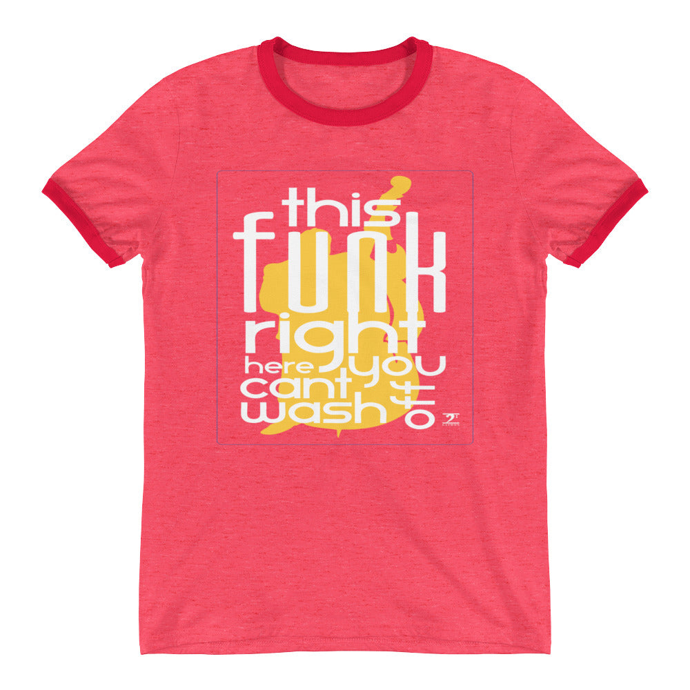 THIS FUNK RIGHT HERE - UPRIGHT Ringer T-Shirt - Lathon Bass Wear