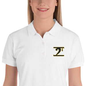 ICONIC LOGO BLACK/GOLD Embroidered Women's Polo Shirt - Lathon Bass Wear