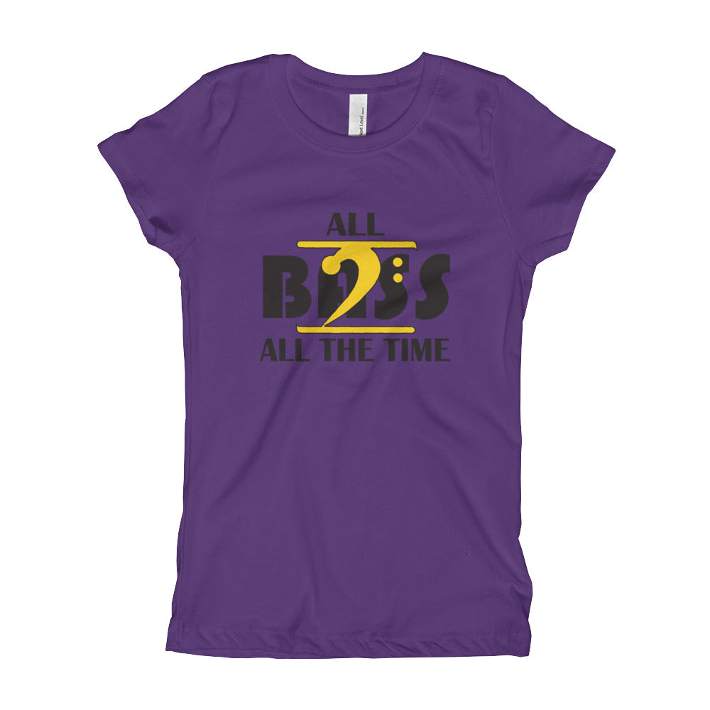 ALL BASS ALL THE TIME Girl's T-Shirt - Lathon Bass Wear
