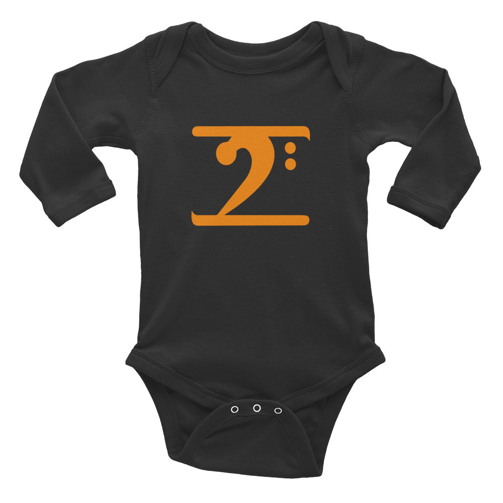 ORANGE LOGO Infant Long Sleeve Bodysuit