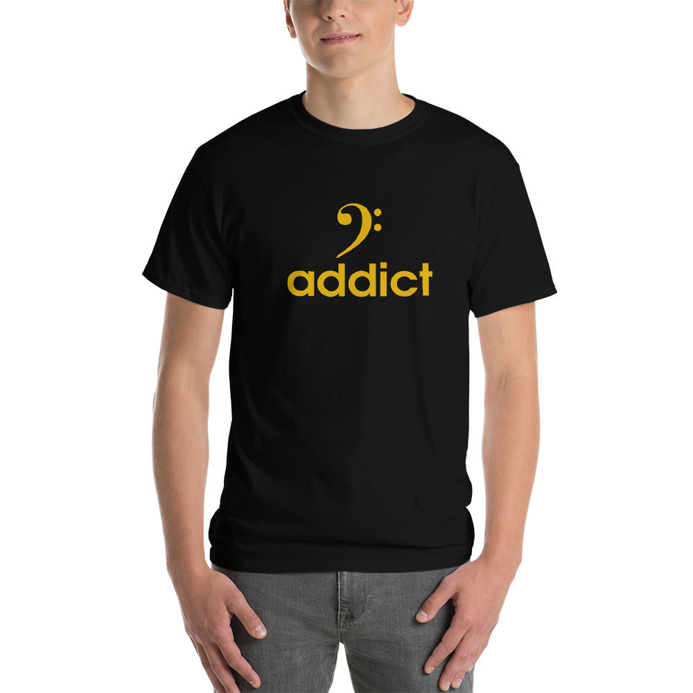 BASS ADDICT - GOLD Short-Sleeve T-Shirt - Lathon Bass Wear