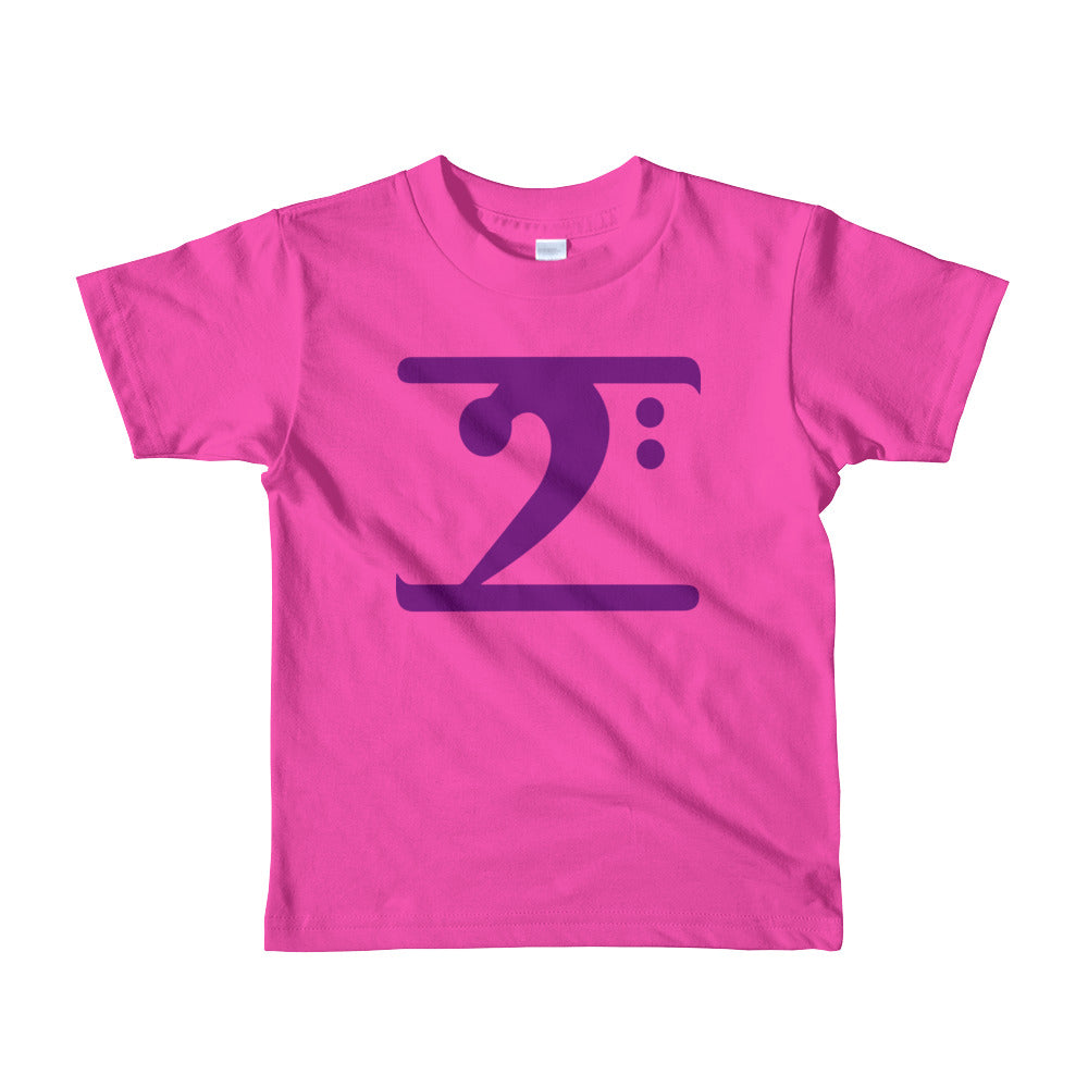 PURPLE LOGO Short sleeve kids t-shirt