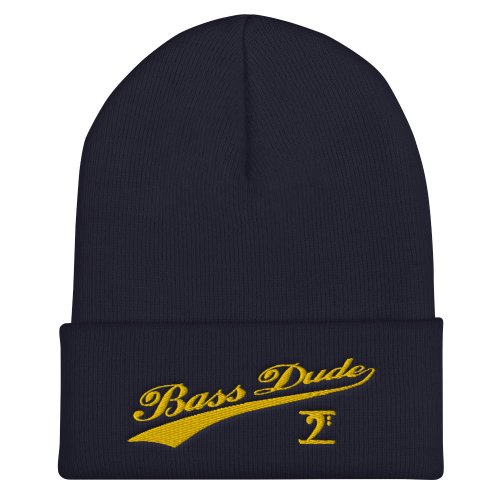 Bass Dude with tail Cuffed Beanie Sale - Lathon Bass Wear