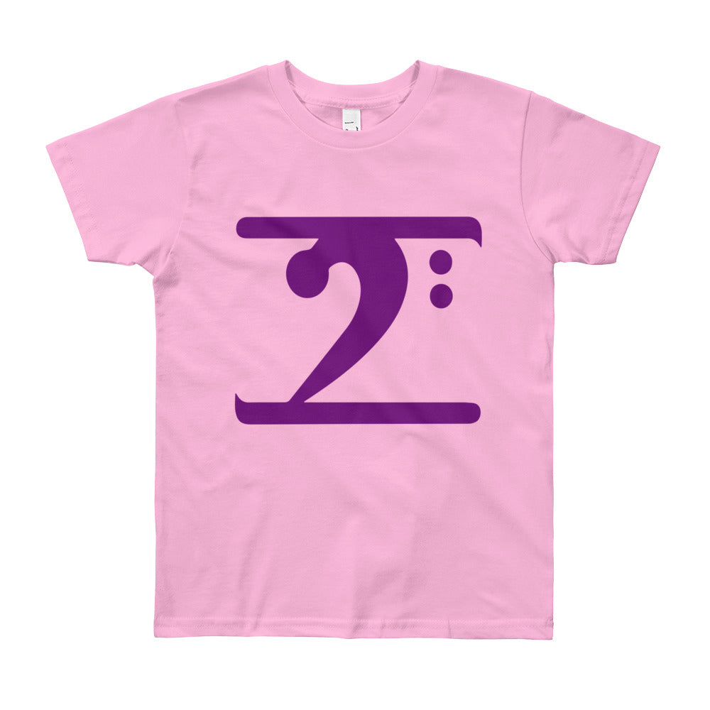 PURPLE LOGO Youth Short Sleeve T-Shirt - Lathon Bass Wear