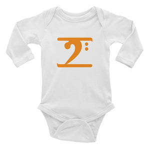 ORANGE LOGO Infant Long Sleeve Bodysuit - Lathon Bass Wear
