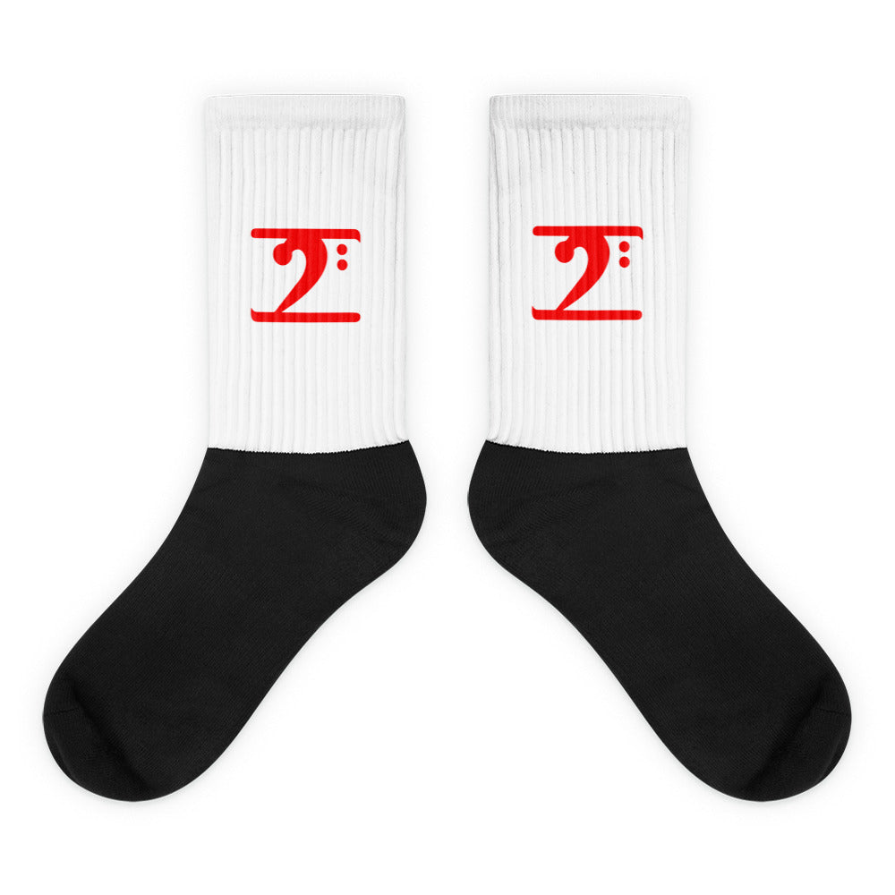 RED LOGO Socks - Lathon Bass Wear