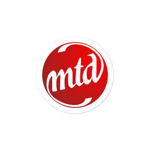MTD FILLED LOGO Bubble-free stickers