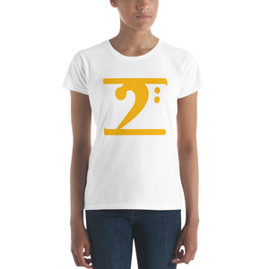 GOLD LOGO Women's short sleeve t-shirt - Lathon Bass Wear