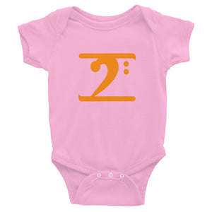 ORANGE LOGO Infant Bodysuit - Lathon Bass Wear