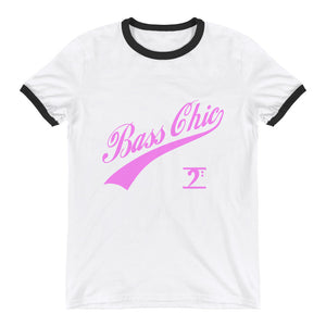 BASS CHIC W/TAIL Ringer T-Shirt - Lathon Bass Wear