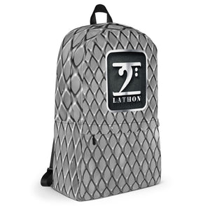 CHROME LOGO SILVER Backpack - Lathon Bass Wear