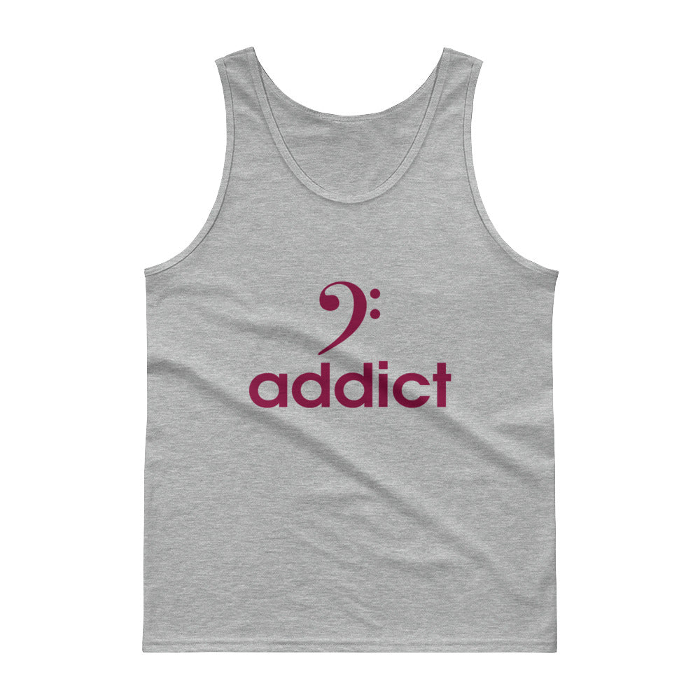 BASS ADDICT - MAROON Tank top - Lathon Bass Wear