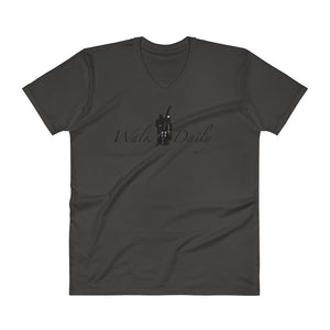 WALK DAILY V-Neck T-Shirt - Lathon Bass Wear