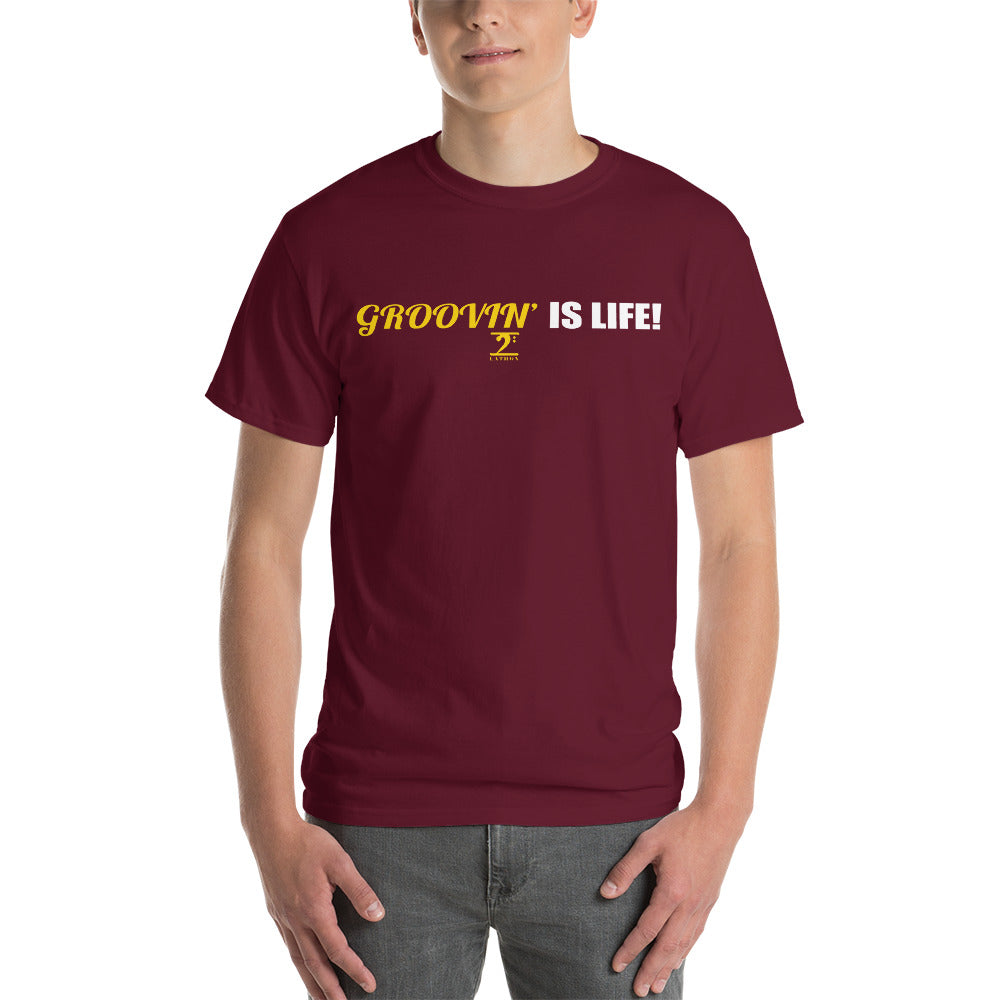 GROOVIN' IS LIFE Short Sleeve T-Shirt - Lathon Bass Wear