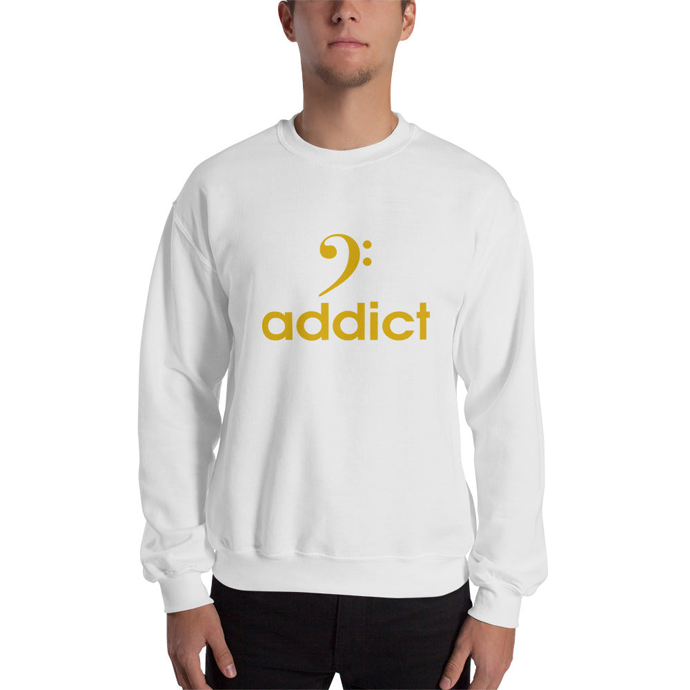 BASS ADDICT - GOLD Sweatshirt - Lathon Bass Wear