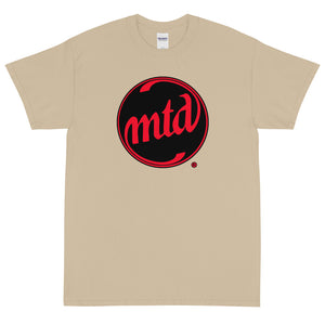 MTD BLACK & RED FILLED CIRCLE LOGO Short Sleeve T-Shirt