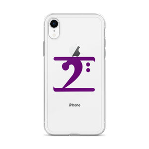 PURPLE LOGO iPhone Case