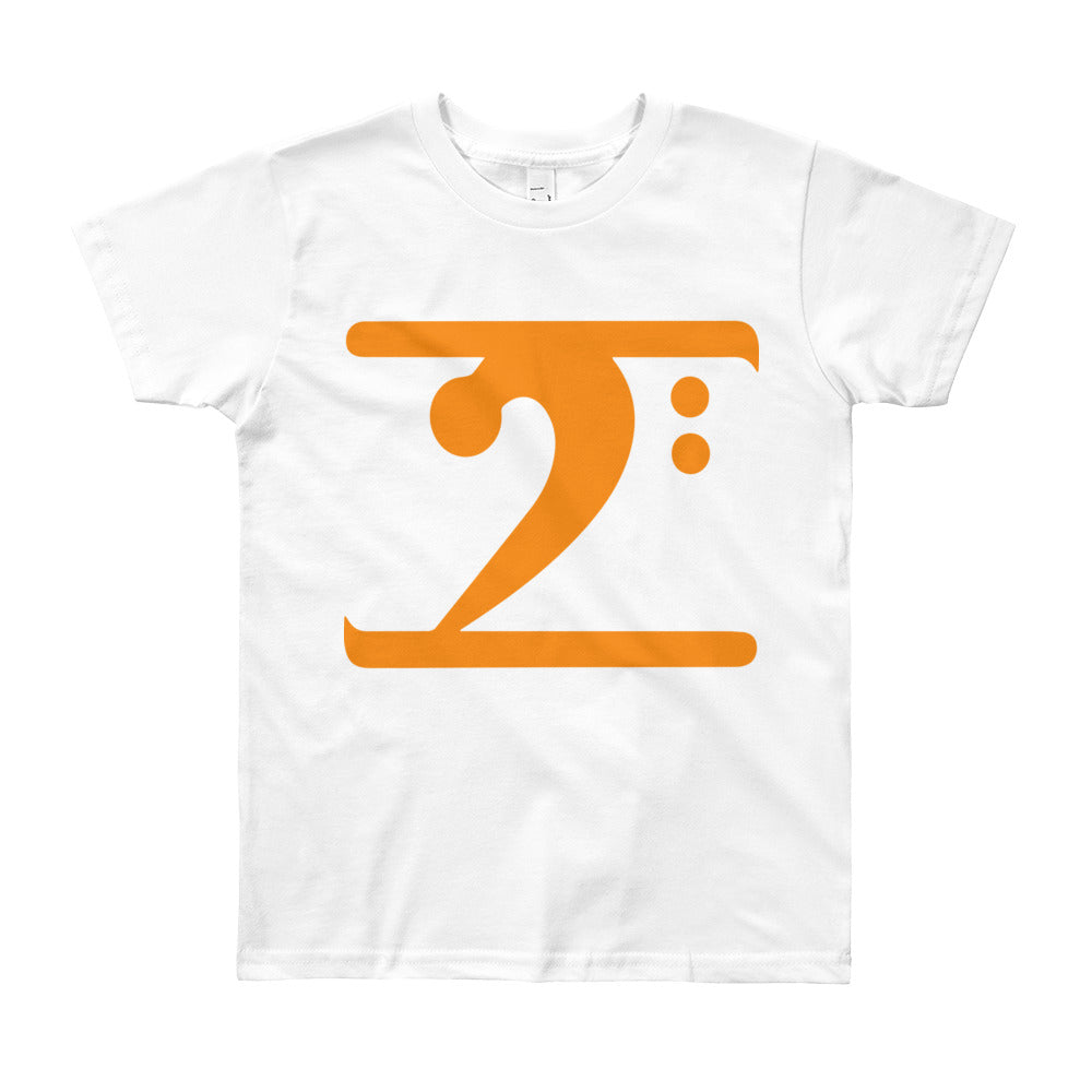 ORANGE LOGO Youth Short Sleeve T-Shirt - Lathon Bass Wear