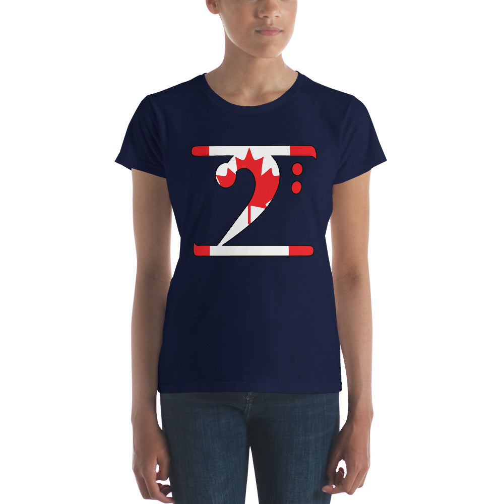 CANADA LBW Women's short sleeve t-shirt - Lathon Bass Wear