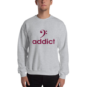 BASS ADDICT - MAROON Sweatshirt - Lathon Bass Wear