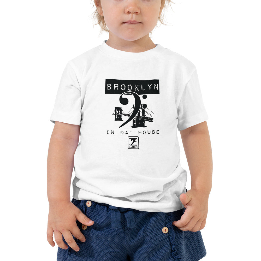 BROOKLYN IN THE HOUSE Toddler Short Sleeve Tee - Lathon Bass Wear