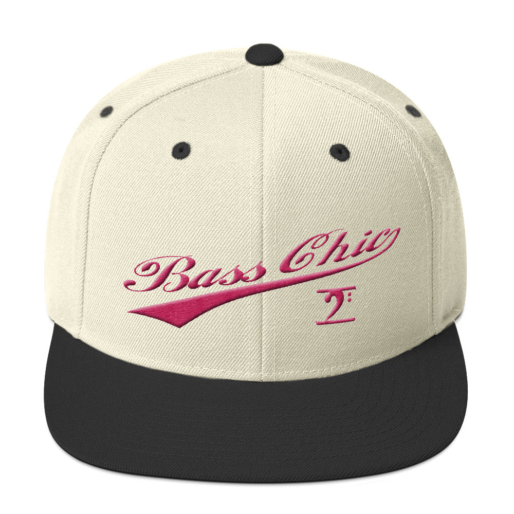 Bass Chic with tail pink Snapback Hat - Lathon Bass Wear