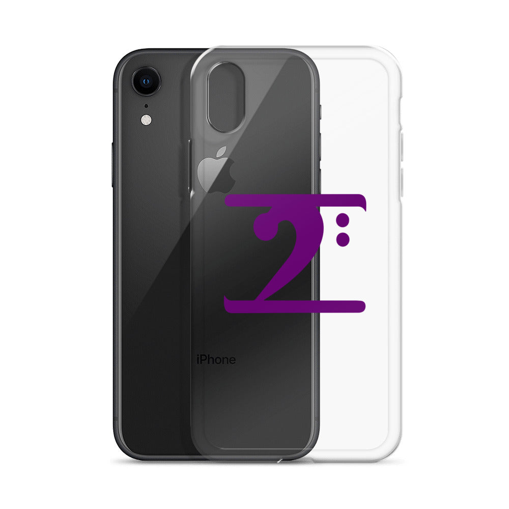 PURPLE LOGO iPhone Case - Lathon Bass Wear