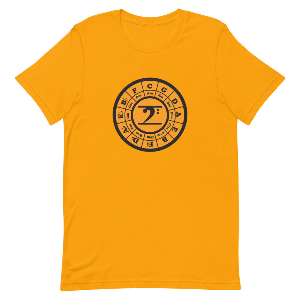 CIRCLE OF 5TH - GOLD Short-Sleeve Unisex T-Shirt
