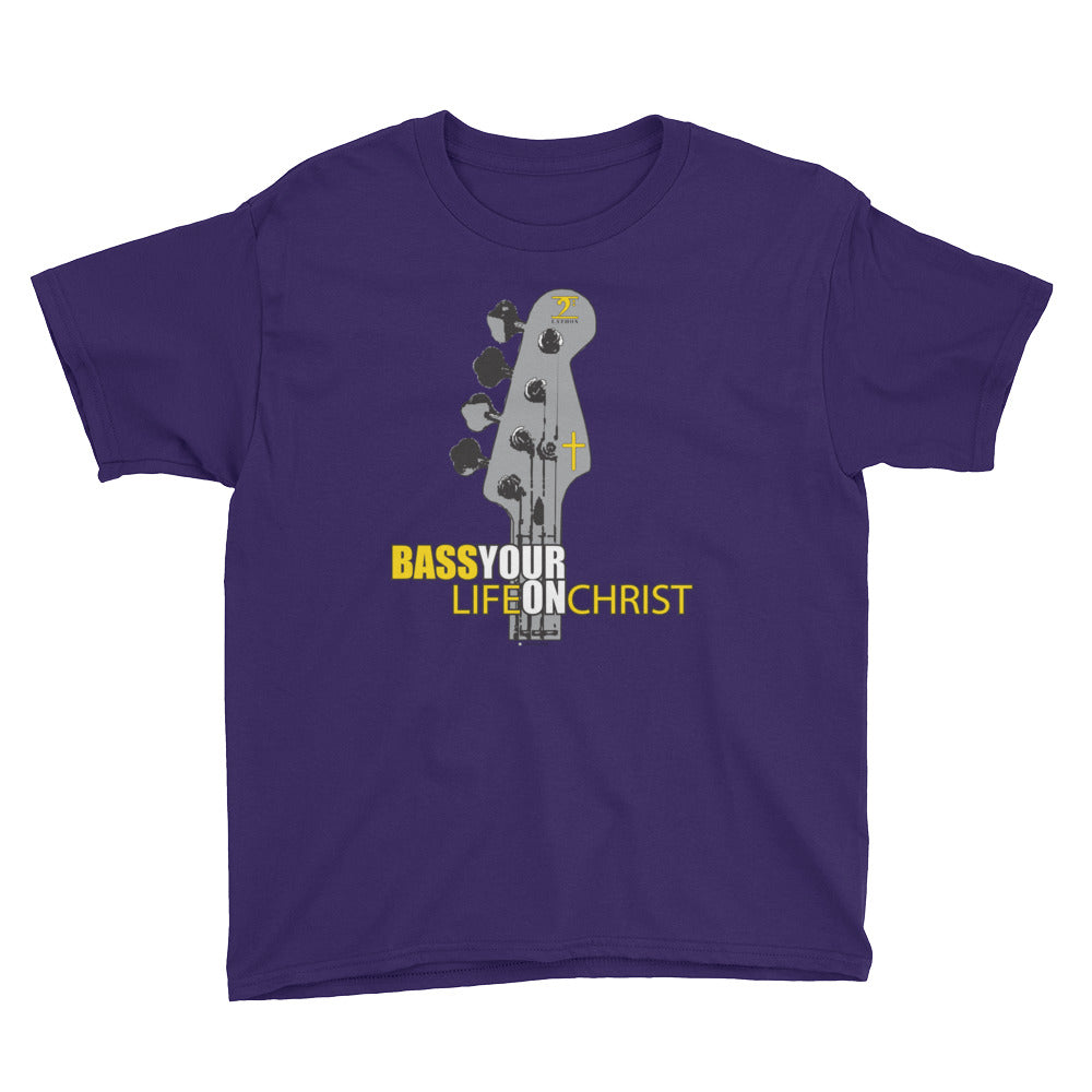 BASS YOUR LIFE ON CHRIST Youth Short Sleeve T-Shirt - Lathon Bass Wear
